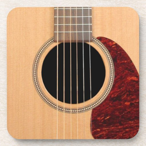 Dreadnought Acoustic six string Guitar Drink Coasters