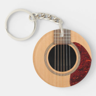 Dreadnought Acoustic six string Guitar Keychain