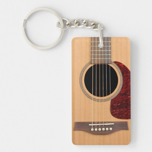 Dreadnought Acoustic six string Guitar Acrylic Key Chain