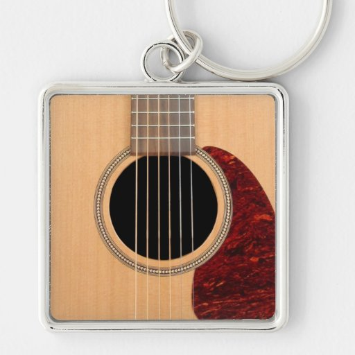 Dreadnought Acoustic six string Guitar Key Chain
