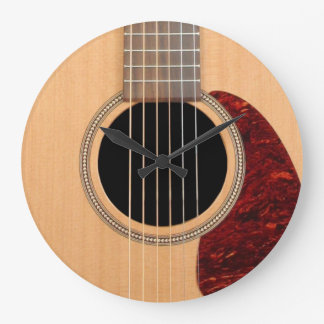Dreadnought Acoustic six string Guitar Large Clock
