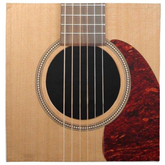 Dreadnought Acoustic six string Guitar Napkin