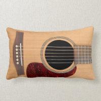 Dreadnought Acoustic six string Guitar Throw Pillows