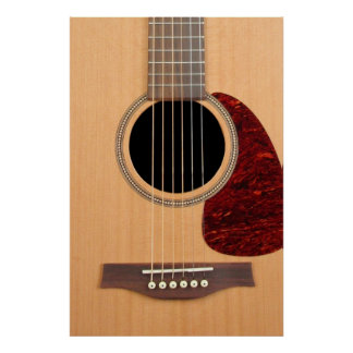 Dreadnought Acoustic six string Guitar Poster