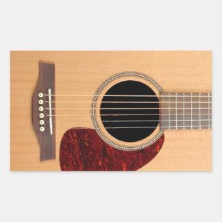 Dreadnought Acoustic six string Guitar Rectangular Sticker