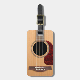 Dreadnought Acoustic six string Guitar Tag For Luggage