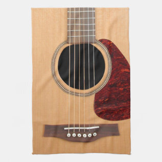 Dreadnought Acoustic Six String Guitar Towel at Zazzle