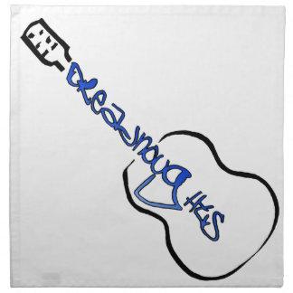 Dreadnought Guitars Acoustic blue logo Napkin