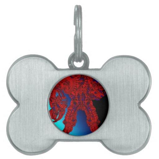 Dreadnought rojo placa de mascota