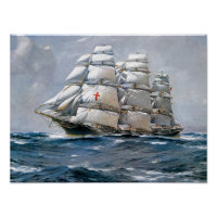 Dreadnought Sailing Clipper Poster