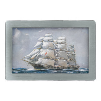 Dreadnought Sailing Clipper Rectangular Belt Buckle