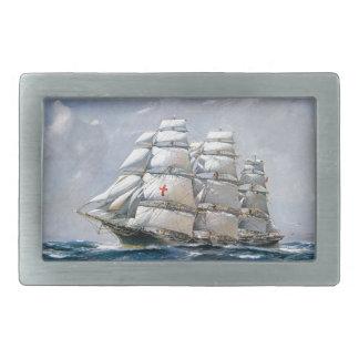 Dreadnought Sailing Clipper Rectangular Belt Buckle