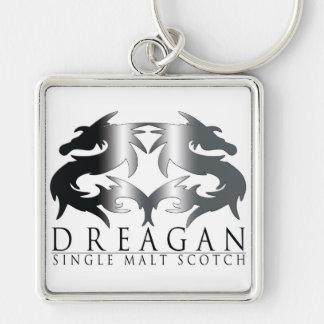 Dreagan Silver-Colored Square Keychain