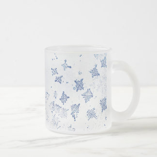 Dream 55 Snowflakes Frosted Glass Coffee Mug