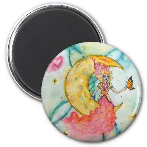 Dream a little dream 2 inch round magnet