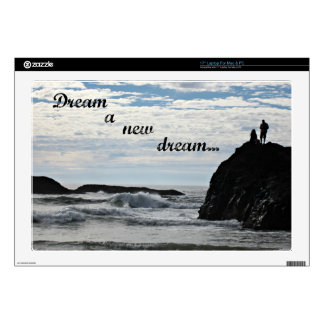 Dream a new dream. decals for laptops