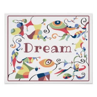 Dream Abstract Decor Poster for Child's Room