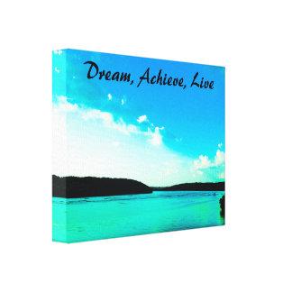 Dream, Achieve, Live Canvas Wrap
