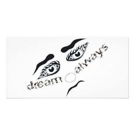 Dream always customized photo card