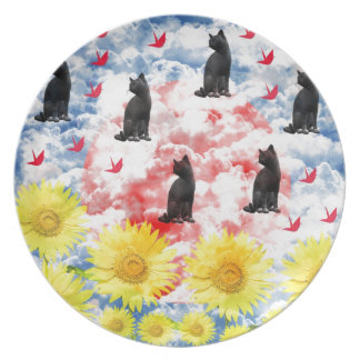 Dream and thousand feather beginning te melamine plate