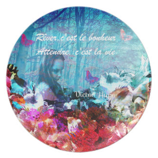 Dream and wait among corals melamine plate