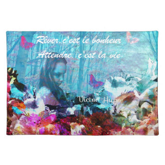 Dream and wait among corals placemat