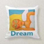 Dream Angel Art Throw Pillows