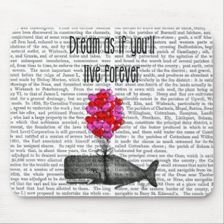 Dream As If You'll Live Forever Mouse Pad