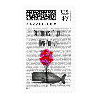 Dream As If You'll Live Forever Stamp