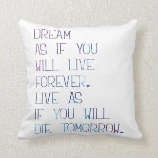 Dream as Polyester Throw Pillow