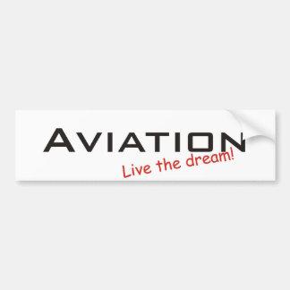 Dream / Aviation Car Bumper Sticker