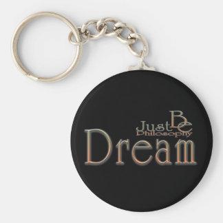 Dream Basic Round Button Keychain