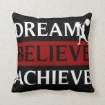 Dream Believe Achieve American MoJo Pillow