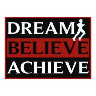Dream Believe Achieve Cross Country Invitation