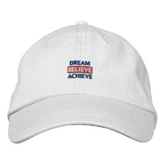 Dream Believe Achieve Embroidered Hat