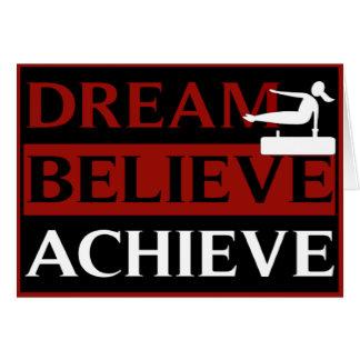 Dream Believe Achieve Gymnastics Greeting Card