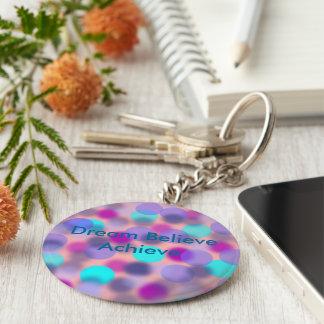 Dream believe Achieve keychain(Green) Keychain