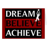 Dream Believe Achieve Lady Volleyball Card