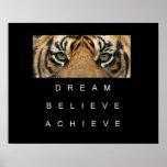 dream believe achieve motivational quote poster
