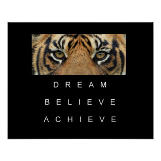 dream believe achieve motivational quote poster