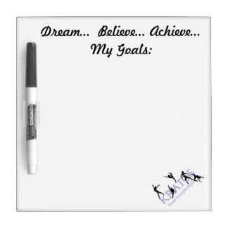 Dream, Believe, Achieve My Goals Dry-Erase Board