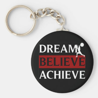 Dream Believe Achieve Weightlifting Keychain