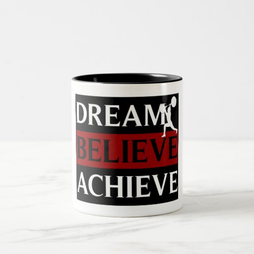 Dream Believe Achieve Weightlifting Mug