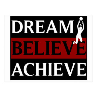 Dream Believe Achieve Womens Volleyball Postcard