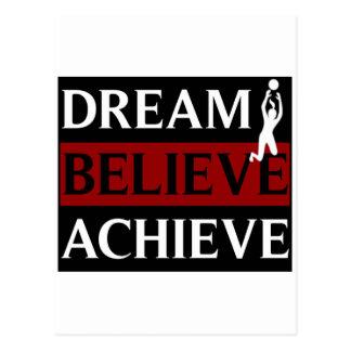Dream Believe Achieve Womens Volleyball Postcard
