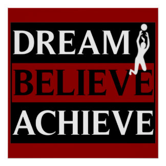 Dream Believe Achieve Womens Volleyball Poster