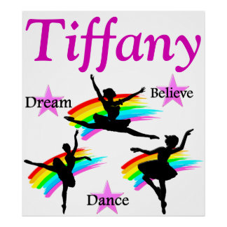 DREAM, BELIEVE, DANCE PERSONALIZED POSTER