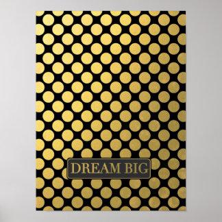 Dream Bid Faux Gold Dots Poster