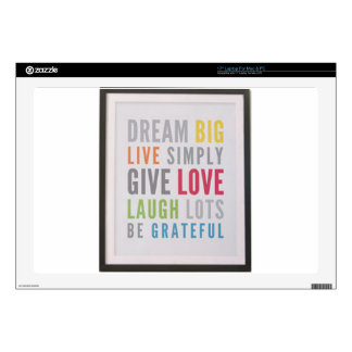 "Dream Big 17"" Laptop Skin"