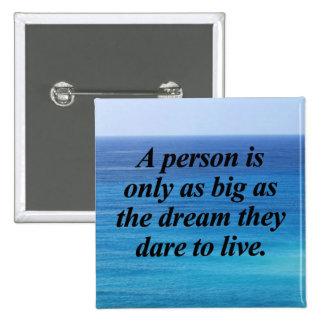 Dream Big 2 Inch Square Button